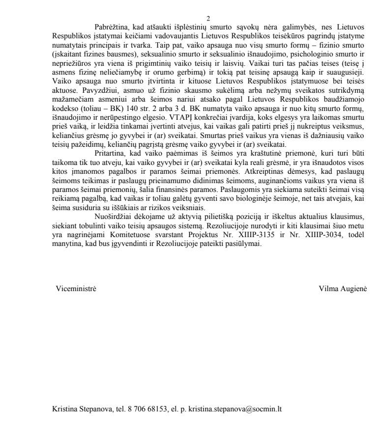 SADM atsakymas 2 lapas