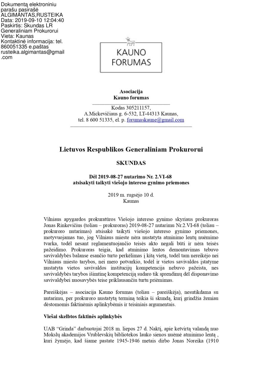 Pasira_Īytas el.para_Īu skundas d_Śl Vilniaus apygardos prokurat_½ros atsakymo-s0910_page-0001