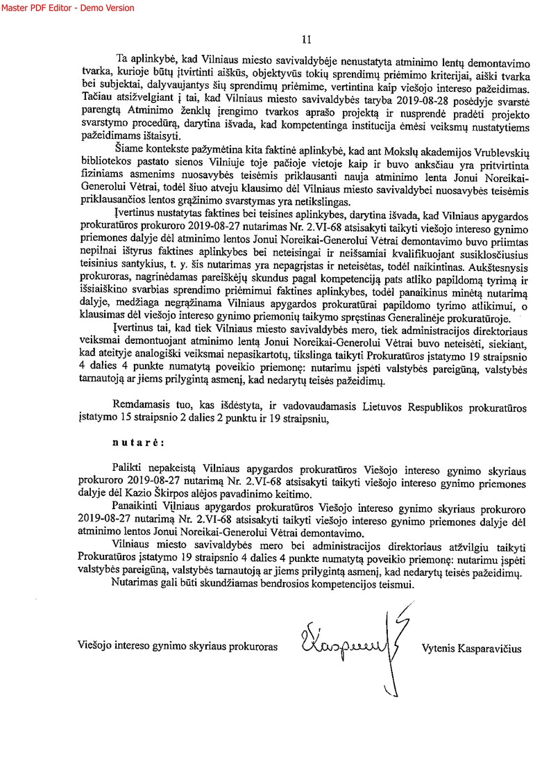Generalinės prokuratūros nutarimas_11